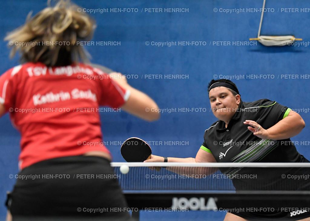 Tischtennis Damen 2021 TTV GSW - TSV Langstadt (6:2) copyright by HEN-FOTO   Tischtennis Damen Hessenliga 2021 TTV GSW - TSV Langstadt (6:2) 11.09.2021 li Kathrin Sachs (L) re Ursula Luh-Fleischer (GSW) copyright by HEN-FOTO Peter Henrich