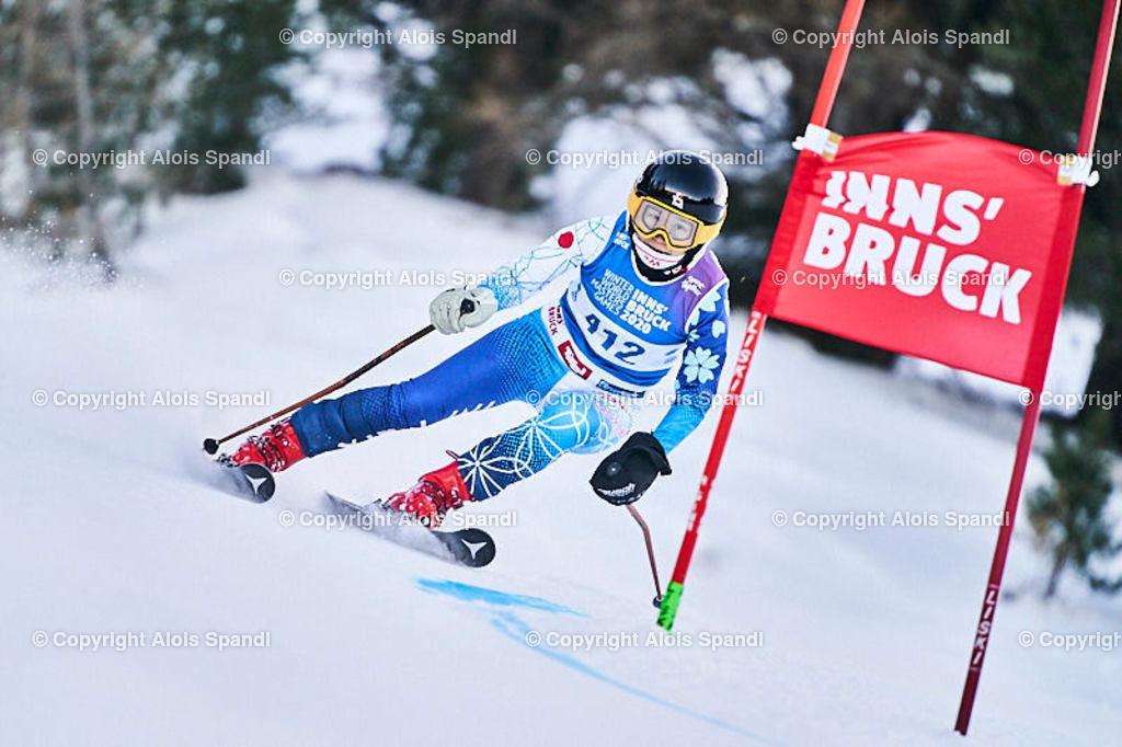 ALS5750_WWMG_GS-II_C | (C) FotoLois.com, Alois Spandl, WinterWorldMastersGames 2020 Innsbruck, Giant Slalom-II Gruppe C Damen, Patscherkofel Olympiaabfahrt, Mi 15. Jänner 2020.