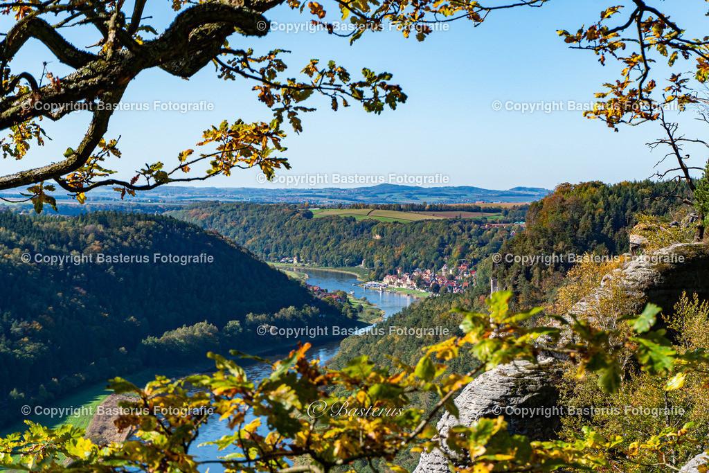 Bastei Aussicht nach Dresden