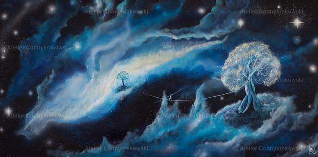 Traumtänzer C | Phantastischer Realismus aus dem Atelier Conny Krakowski. Verkäuflich als Poster, Leinwanddruck und vieles mehr.