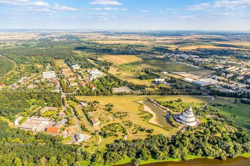 Luftbild Magdeburg Elbauenpark Bugaturm-5177