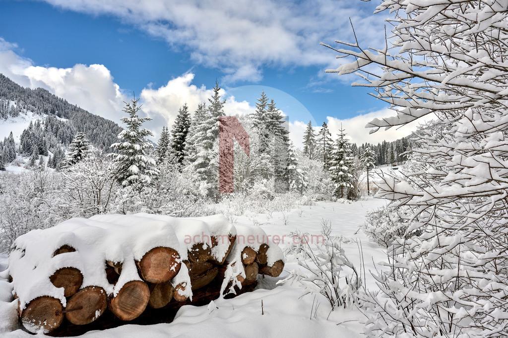 Nesselwängle im WInter, Tannheimer Tal, Tirol, Österreich