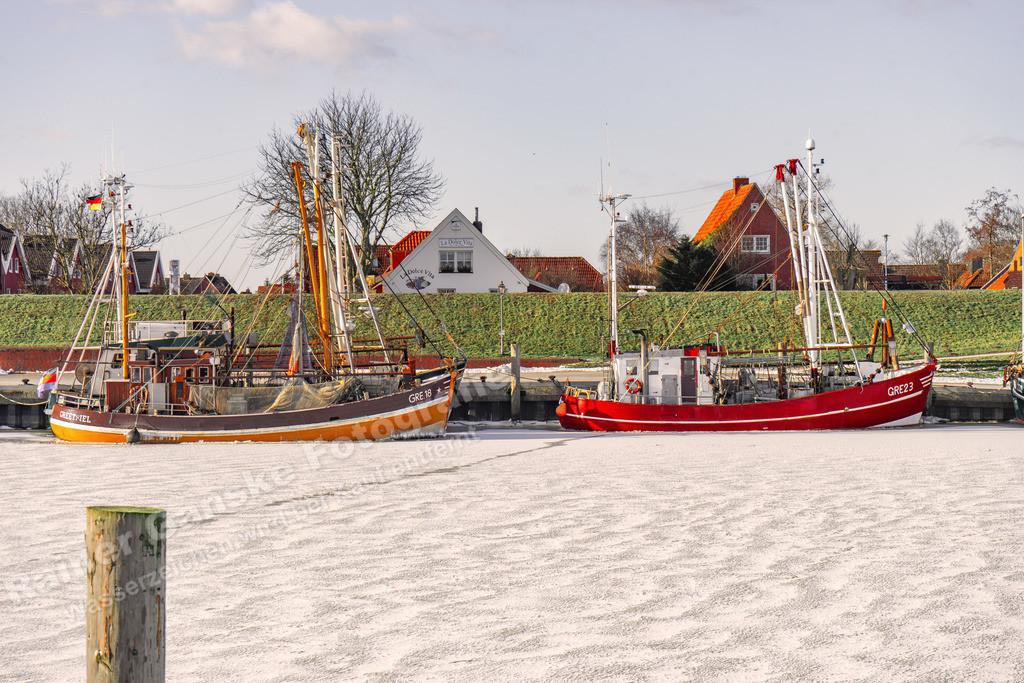 20210212-Hafen in Greetsiel Ostfriesland Krummhörn Winter 12 Februar 2021 _2