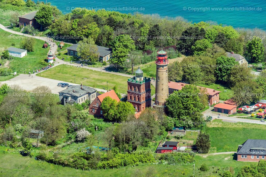 Kap Arkona Leuchtturm Schinkelturm_ELS_2476220517 | Kap Arkona - Aufnahmedatum: 22.05.2017, Aufnahmehöhe: 484 m, Koordinaten: N54°40.077' - E13°25.609', Bildgröße: 7360 x  4912 Pixel - Copyright 2017 by Martin Elsen, Kontakt: Tel.: +49 157 74581206, E-Mail: info@schoenes-foto.de  Schlagwörter:Mecklenburg-Vorpommern,Rügen,Luftbild, Luftbilder, Deutschland