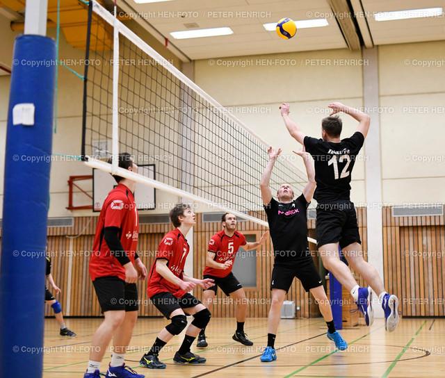 20200111 Volleyball Herren Oberliga DSW Darmstadt - Biedenkopf copyright by HEN-FOTO   20200111 Volleyball Herren Oberliga DSW Darmstadt - Biedenkopf 7 Ben Stremel (B) 5 Mirko Wernicke (B) 4 Markus Bücker (D) 12 Magnus Richert (D) copyright by HEN-FOTO (Peter Henrich)