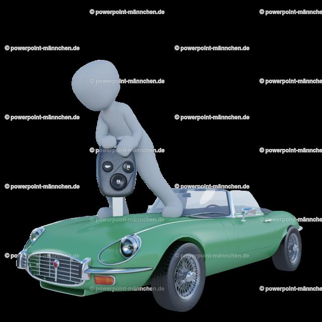 man standing above the green car | https://3dman.eu jetzt 250 Bilder gratis sichern