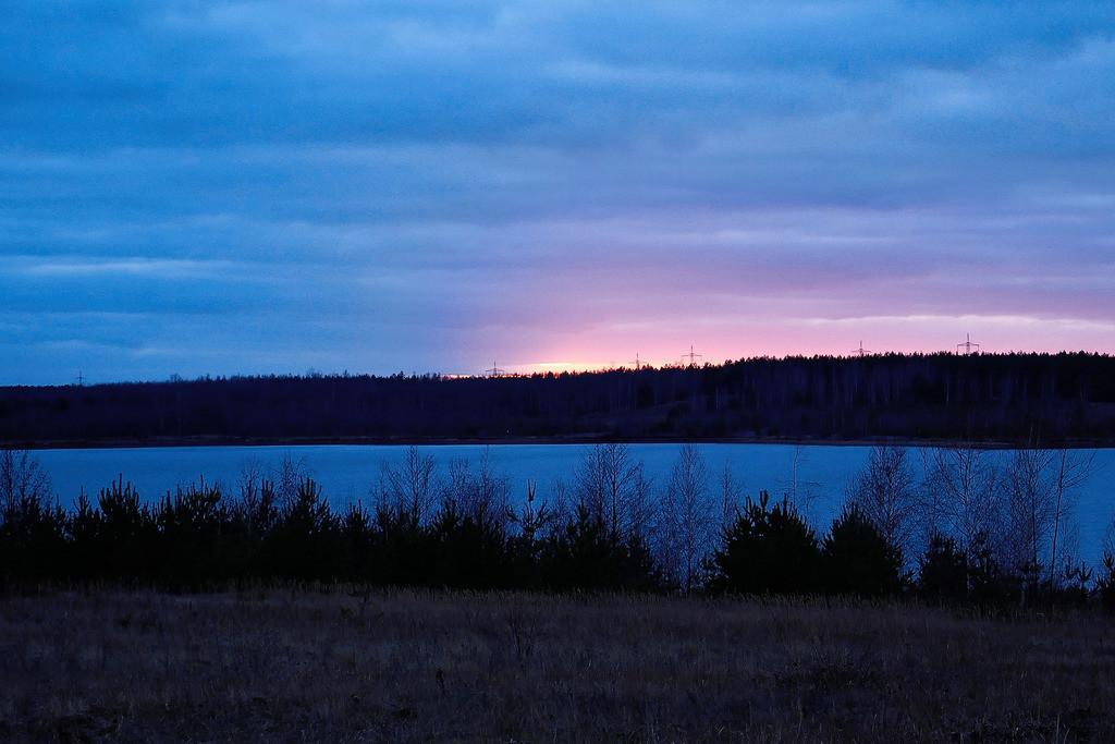 Sonnenuntergang Bärwalder See