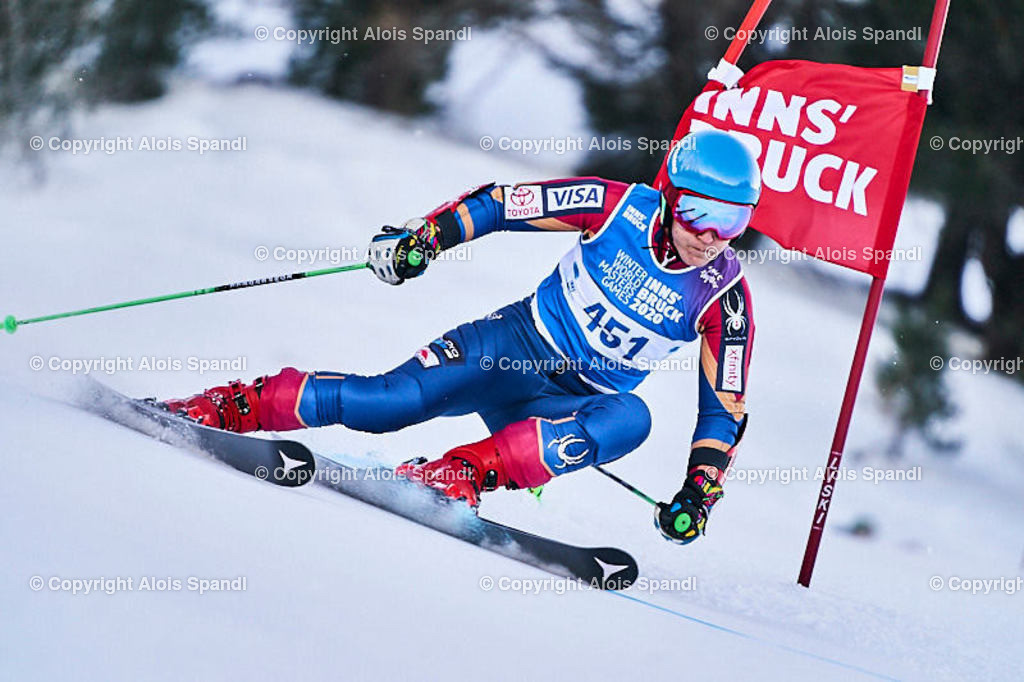 ALS5934_WWMG_GS-II_C | (C) FotoLois.com, Alois Spandl, WinterWorldMastersGames 2020 Innsbruck, Giant Slalom-II Gruppe C Damen, Patscherkofel Olympiaabfahrt, Mi 15. Jänner 2020.