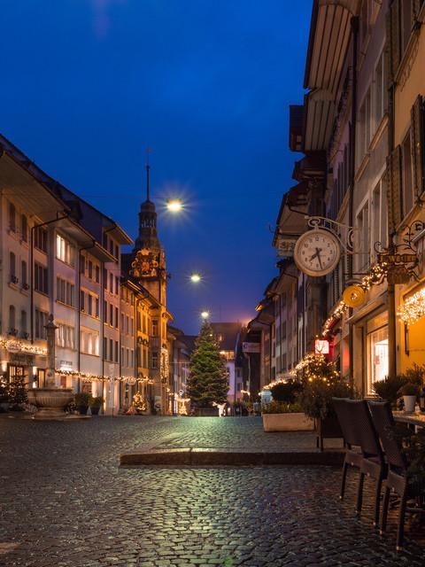 Lenzburg im Advent | Lenzburg im Aargau zur Morgenstunde im Advent