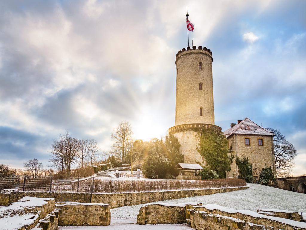 Winter auf der Sparrenburg | Wintermorgen auf der Sparrenburg in Bielefeld.