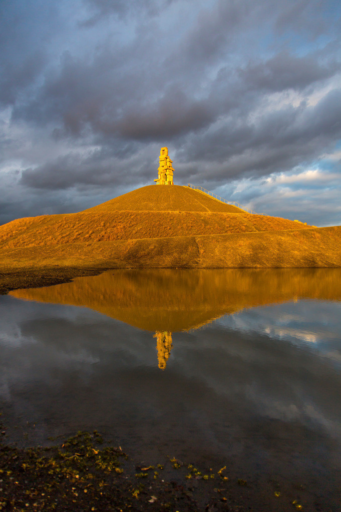 JT-150301-012 | Halde Rheinelbe in Gelsenkirchen, 100 Meter hohe Bergehalde, Landschaftspark, mit der Skulptur Himmelsleiter, aus Betonteilen der ehemaligen Zeche Rheinelbe