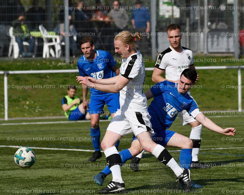 20190407 Fussball Gruppenliga FC Alsbach - SV Münster (2:1) copyright HEN-FOTO (Peter Henrich) | 20190407 Fussball Gruppenliga FC Alsbach - SV Münster (2:1) li 18 Philipp May (A) re 2 Jonas Seib (M) copyright HEN-FOTO (Peter Henrich)