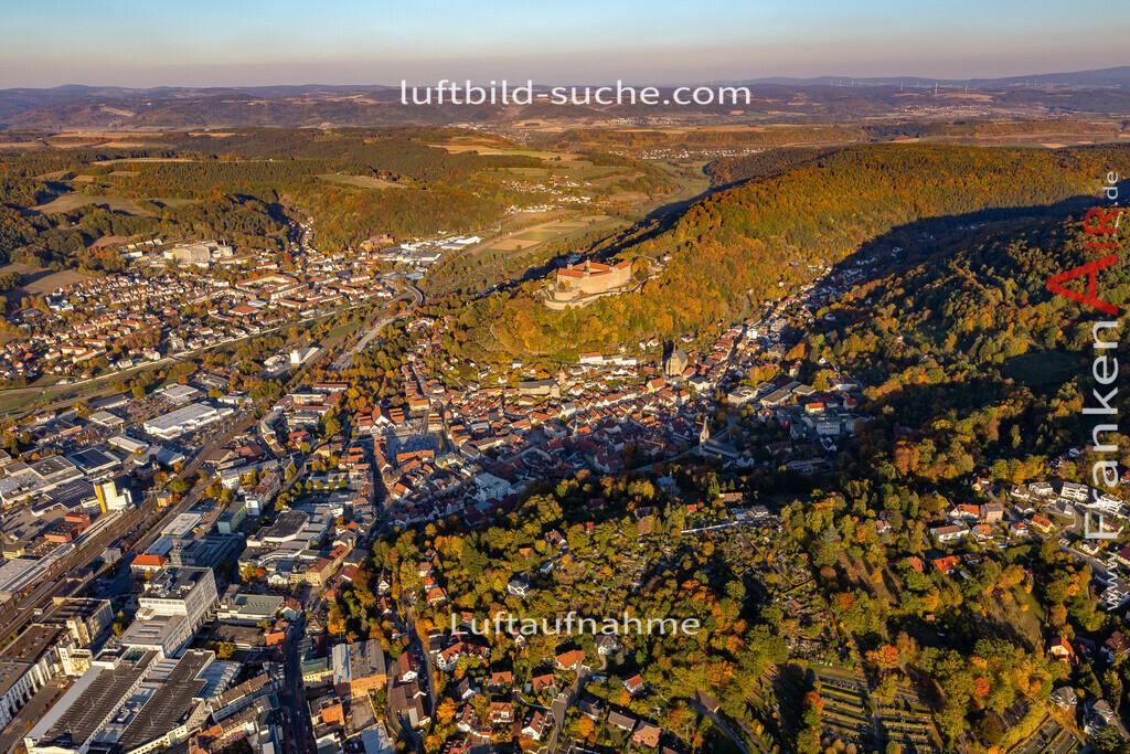 obere-stadt-kulmbach-18-372   aktuelles Luftbild von Obere-stadt Kulmbach - Luftaufnahme wurde 2018 von https://frankenair.de mittels Flugzeug (keine Drohne) erstellt.