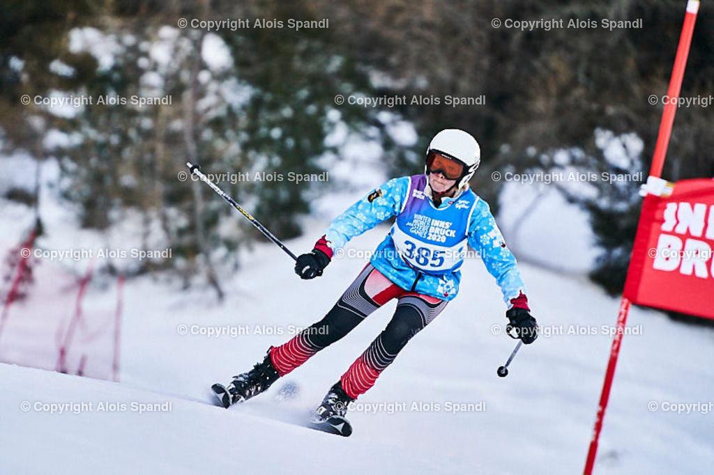 ALS5606_WWMG_GS-II_C | (C) FotoLois.com, Alois Spandl, WinterWorldMastersGames 2020 Innsbruck, Giant Slalom-II Gruppe C Damen, Patscherkofel Olympiaabfahrt, Mi 15. Jänner 2020.