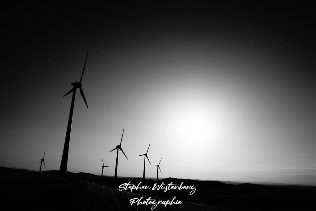 Windräder im Gleichtakt | Windräder an der Karlshöhe im Gleichtakt
