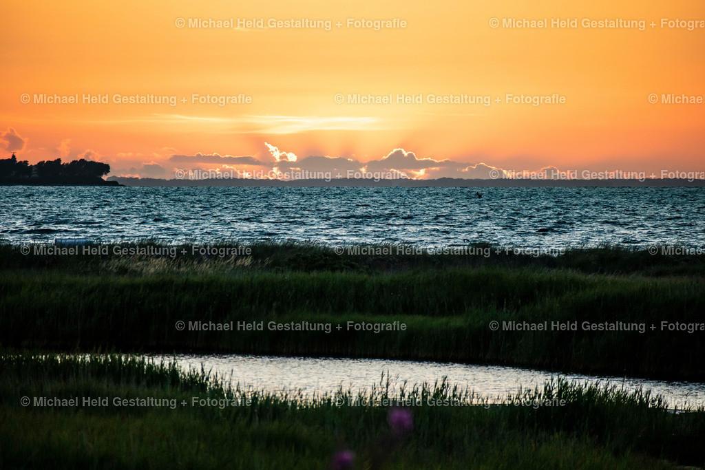Sonnenuntergang an der Kieler Förde | Traumhafter Sonnenuntergang an der Kieler Förde mit Blick auf Bülck