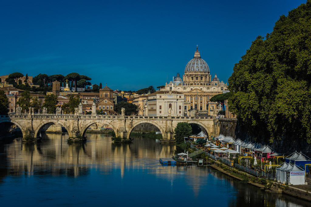 Pontel-St-Angelo+Petersdom-Rom-1