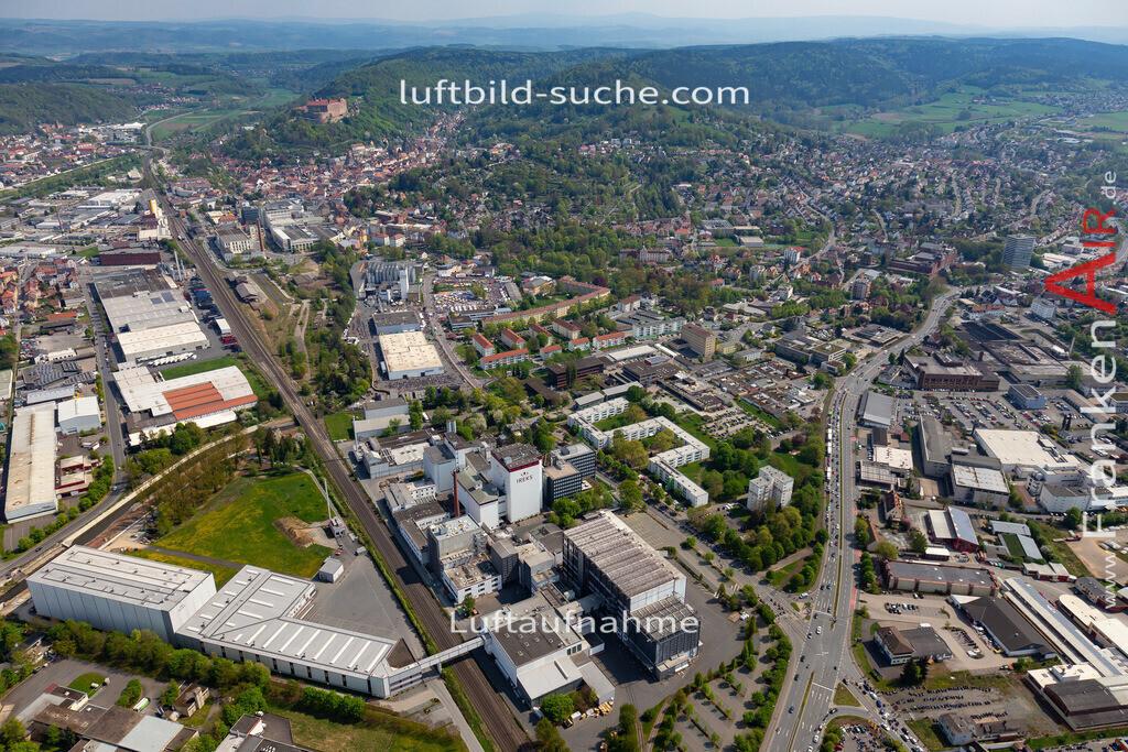 kulmbach-18-61   aktuelles Luftbild von  Kulmbach - Luftaufnahme wurde 2018 von https://frankenair.de mittels Flugzeug (keine Drohne) erstellt.