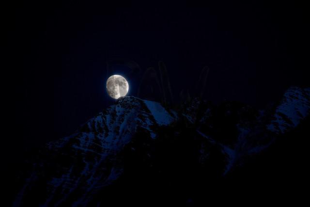 Mondschein über dem Bättlihorn | von Bitsch aus fotografiert
