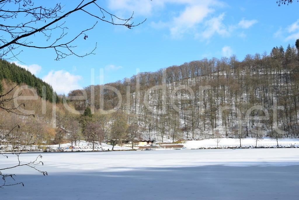 Winter am Gemünder Maar, Daun, Vulkaneifell | Das Gemündener Maar im Winter