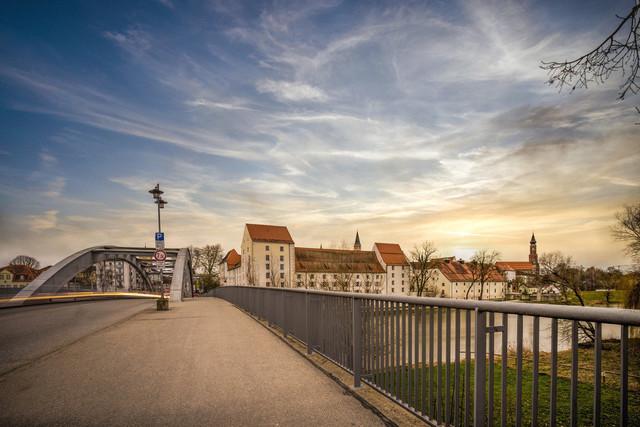 Schloßbrücke Straubing und Herzogschloß
