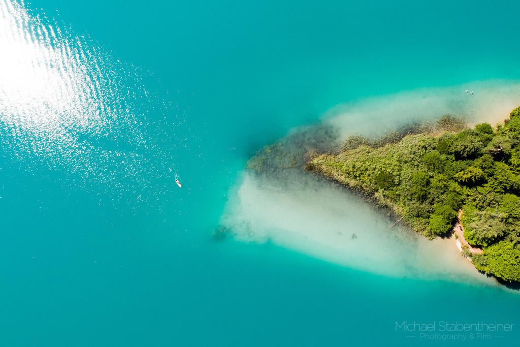 Faaker See von oben | Luftaufnahme von Faaker See bei Villach