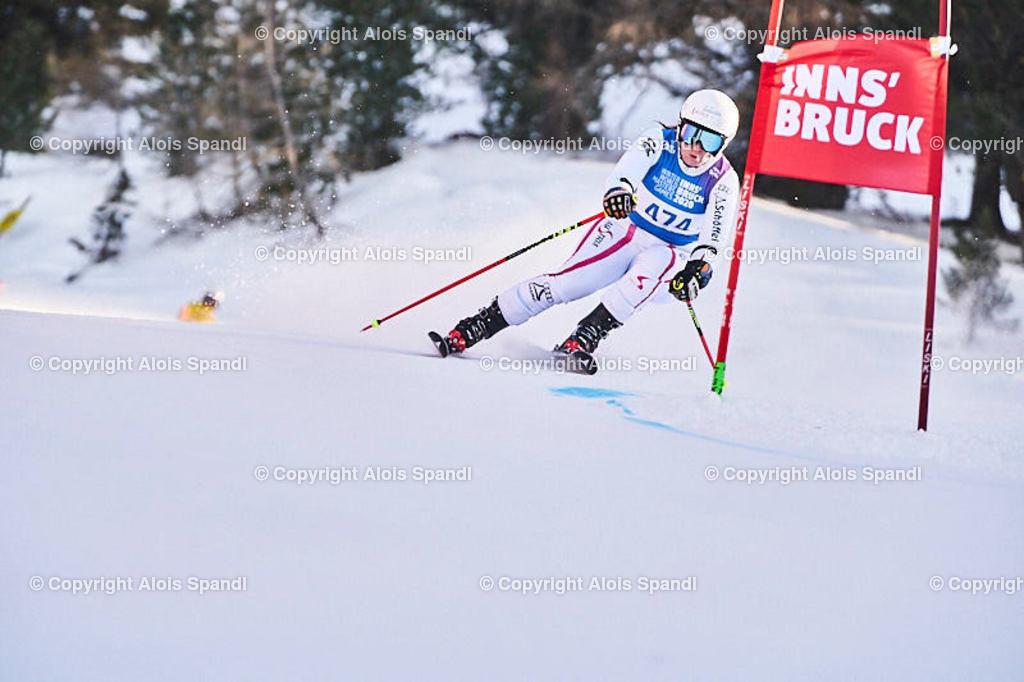 ALS6059_WWMG_GS-II_C   (C) FotoLois.com, Alois Spandl, WinterWorldMastersGames 2020 Innsbruck, Giant Slalom-II Gruppe C Damen, Patscherkofel Olympiaabfahrt, Mi 15. Jänner 2020.
