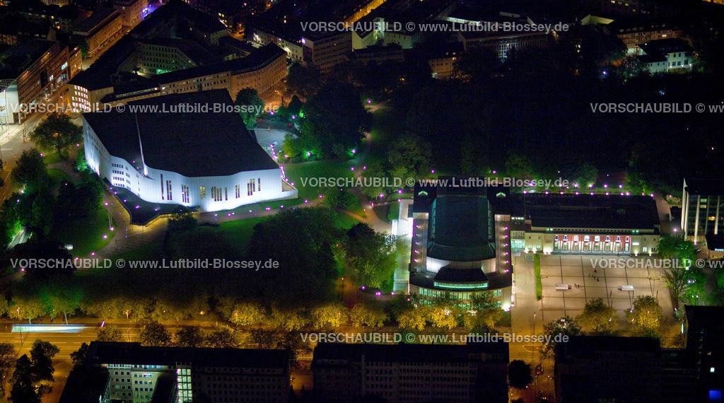 ES10052580 | Philharmonie, Aalto Theater und RWE-Hochhaus bei Nacht,  Essen, Ruhrgebiet, Nordrhein-Westfalen, Germany, Europa, Foto: hans@blossey.eu, 14.05.2010