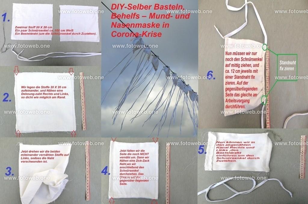 DIY-Mundschutz | Do It Yourself Behelfs– Mund- und Nasenmaske in Corona-Krise Selber Basteln.
