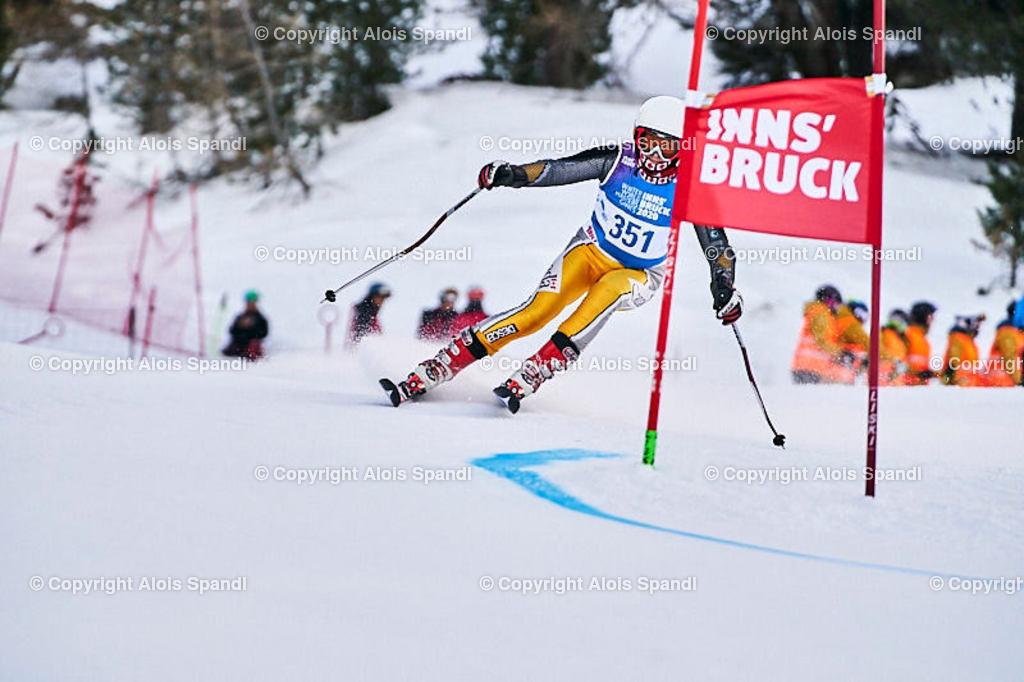 ALS5408_WWMG_GS-II_C | (C) FotoLois.com, Alois Spandl, WinterWorldMastersGames 2020 Innsbruck, Giant Slalom-II Gruppe C Damen, Patscherkofel Olympiaabfahrt, Mi 15. Jänner 2020.