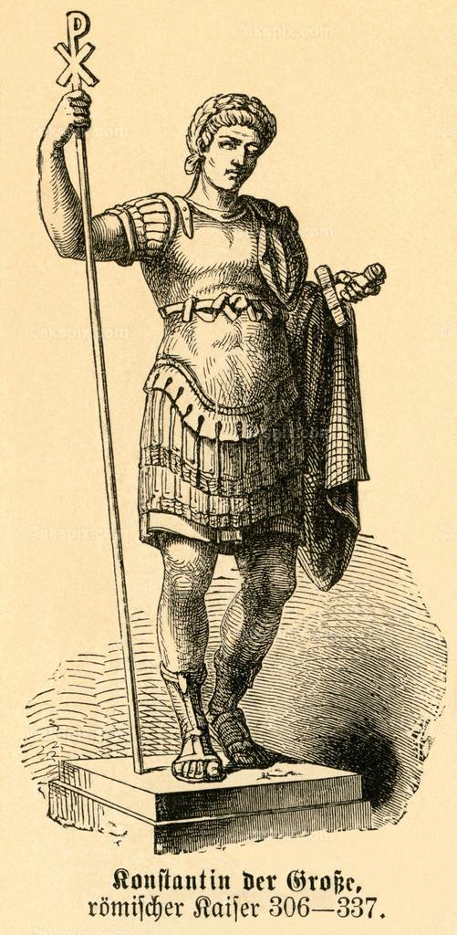 Konstantin der Große / Constantine the Great   Europa, Serbien, Nisava, Nis, Konstantin der Große, römischer Kaiser , Motiv aus :