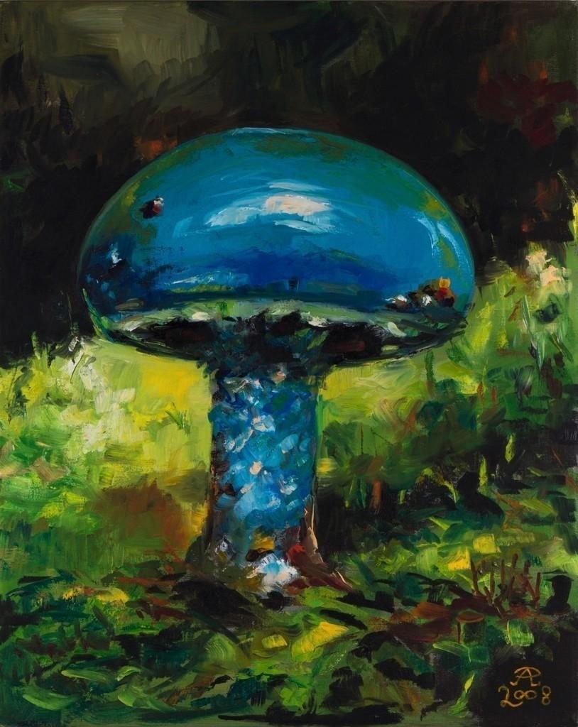 Der blaue Pilz | Originalformat: 50x40cm  -  Produktionsjahr: 2008