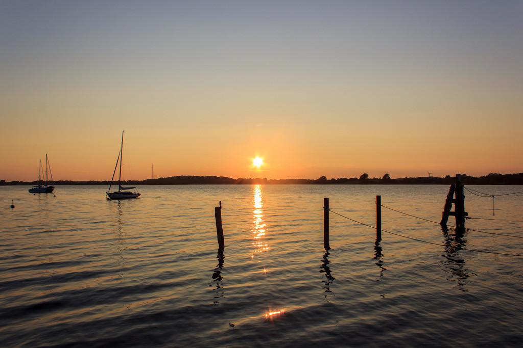 Sieseby an der Schlei   Sonnenuntergang in Sieseby an der Schlei
