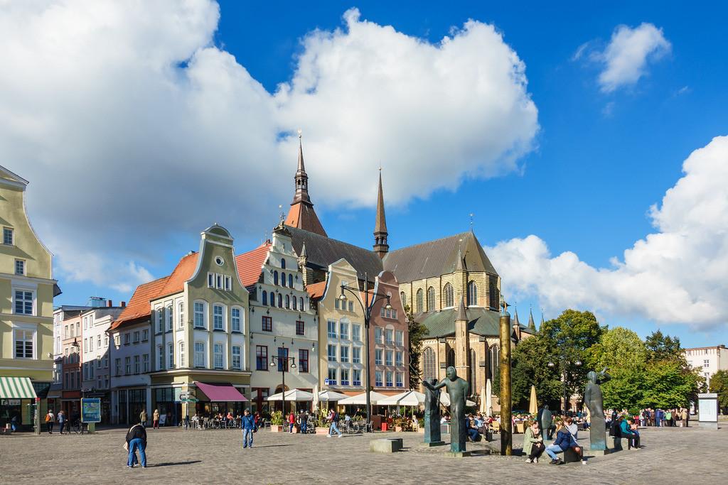 Blick über den Neuen Markt in Rostock | Blick über den Neuen Markt in Rostock.