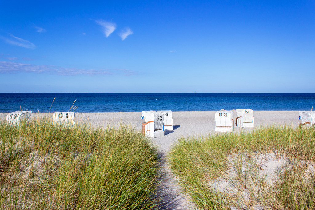 Strandkörbe an der Ostsee | Strandkörbe am Strand in Kronsgaard