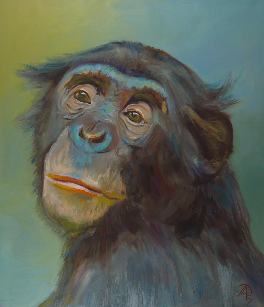 Der Verträumte Affe | Originalformat: 70x50cm - Produktionsjahr: 2015
