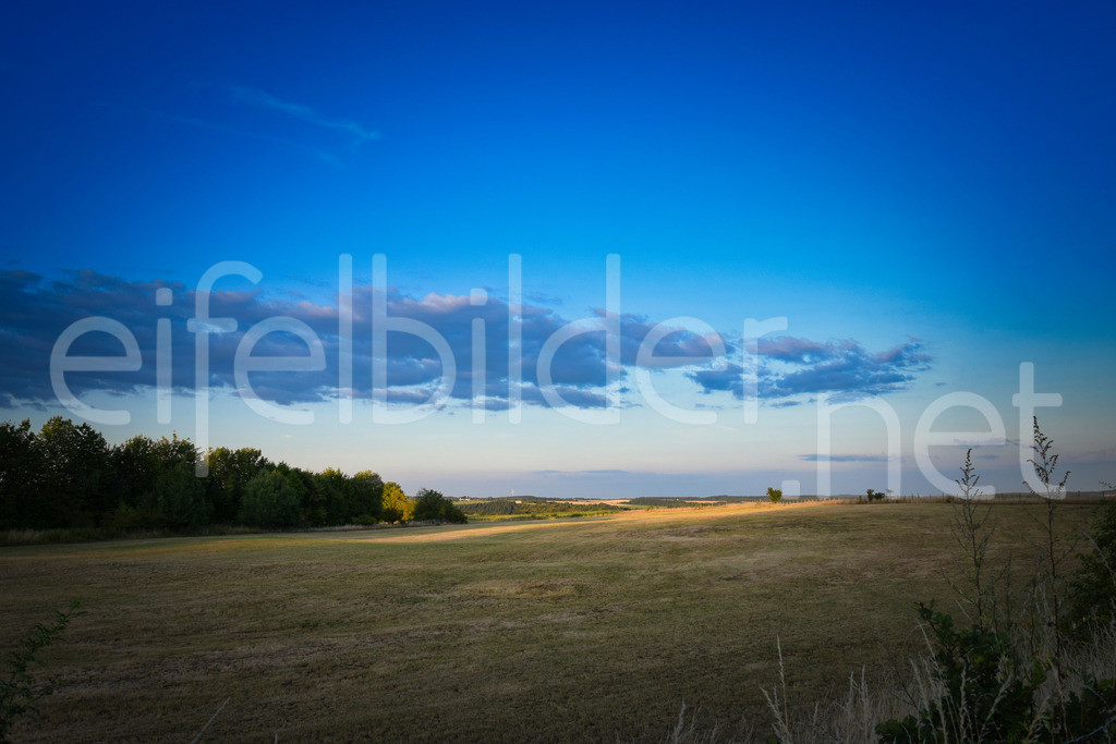 Landschaft am Mosenberg | Abendlicht mit interessanter Wolkenformation