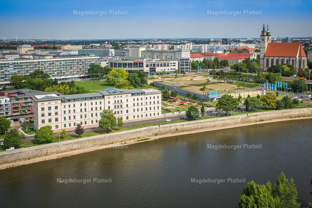 Luftbild Magdeburg Dom Stadtpark MDR Hypar-5569