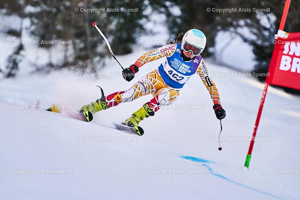 ALS5985_WWMG_GS-II_C | (C) FotoLois.com, Alois Spandl, WinterWorldMastersGames 2020 Innsbruck, Giant Slalom-II Gruppe C Damen, Patscherkofel Olympiaabfahrt, Mi 15. Jänner 2020.