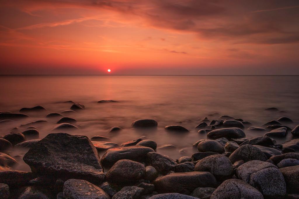 Sonnenuntergang in Vang | Sonnenuntergang aufgenommen an der Küste von Vang