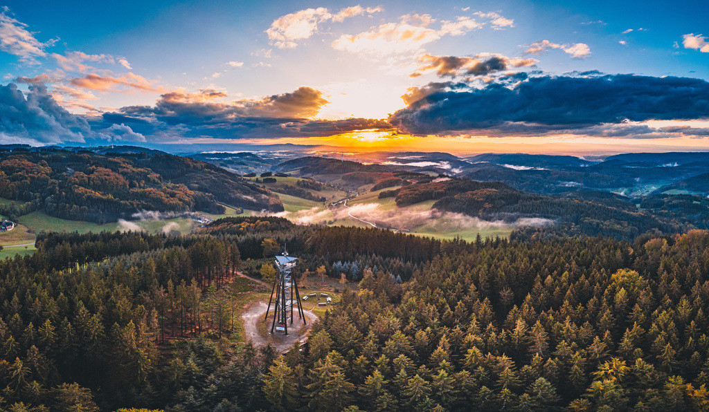 Herbst am Hünersedel | Herbstliche Schwarzwaldlandschaft am Hünersedel bei Freiamt