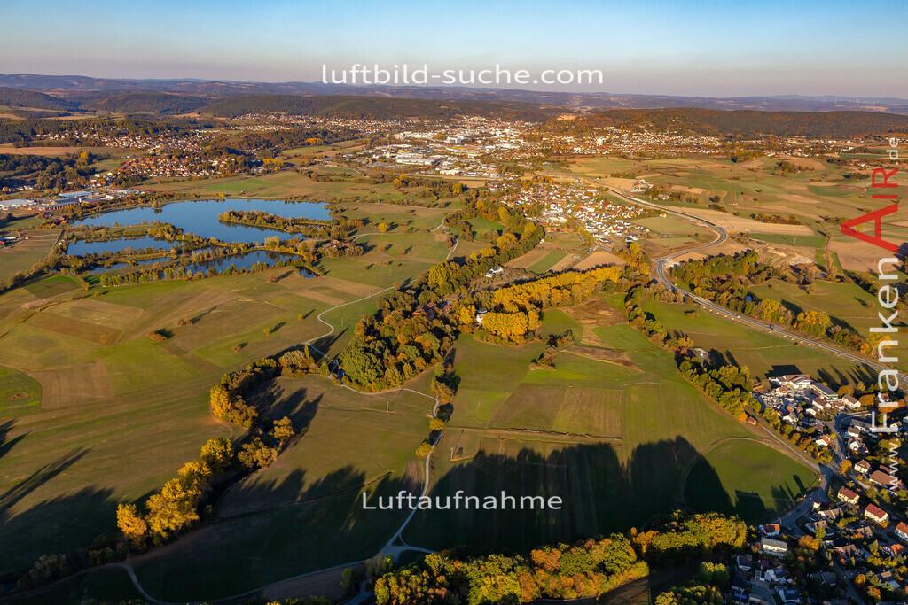 mainzusammenfluss-kulmbach-18-355   aktuelles Luftbild von Mainzusammenfluss Kulmbach - Luftaufnahme wurde 2018 von https://frankenair.de mittels Flugzeug (keine Drohne) erstellt.