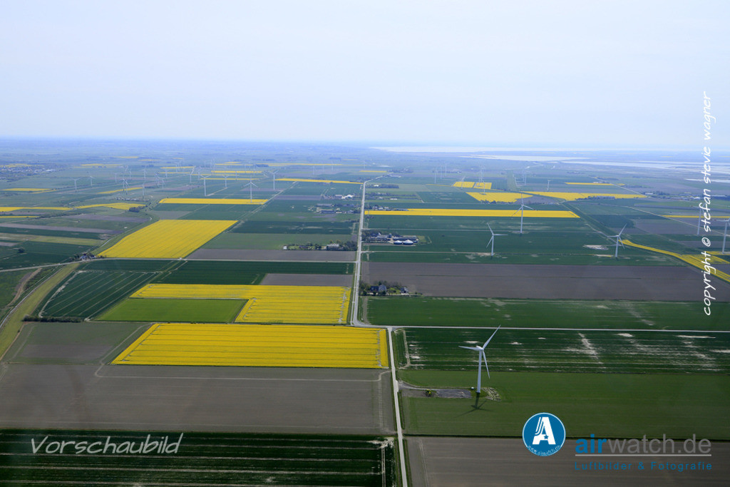 Luftbilder Bredstedter Koog   Bredstedter Koog, Reußenkoog, Hoolstill, Sönke-Nissen-Koog, Mittelweg, Koogchausee