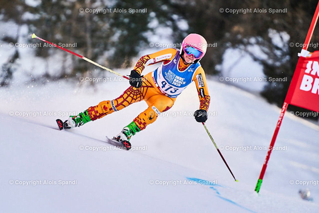 ALS6050_WWMG_GS-II_C | (C) FotoLois.com, Alois Spandl, WinterWorldMastersGames 2020 Innsbruck, Giant Slalom-II Gruppe C Damen, Patscherkofel Olympiaabfahrt, Mi 15. Jänner 2020.