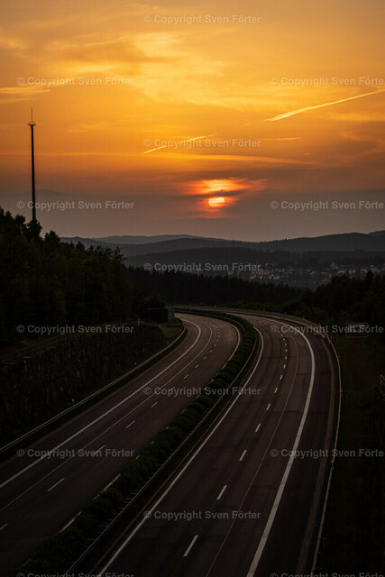 Sunset in summer in the Thuringian Forest | Sunset in summer in the Thuringian Forest