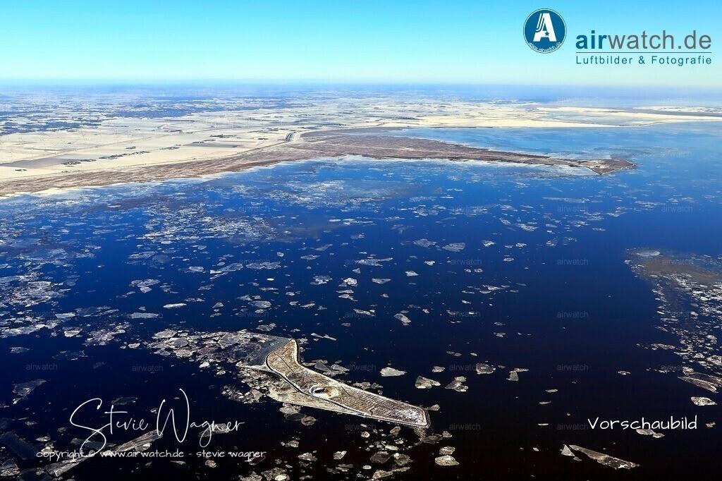 Winter Luftbilder, Nordsee, Nordfriesland, Hallig Habel   Winter Luftbilder, Nordsee, Nordfriesland, Hallig Habel