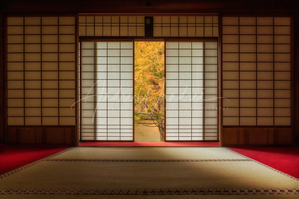 Im japanischen Tempel
