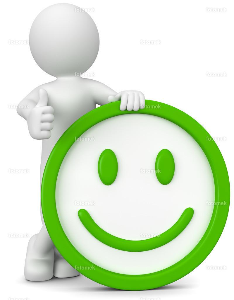 3d Männchen Positiv | 3d Männchen mit sehr guter Laune. Der lächelnde Smiley zeigt die gute Stimmung.