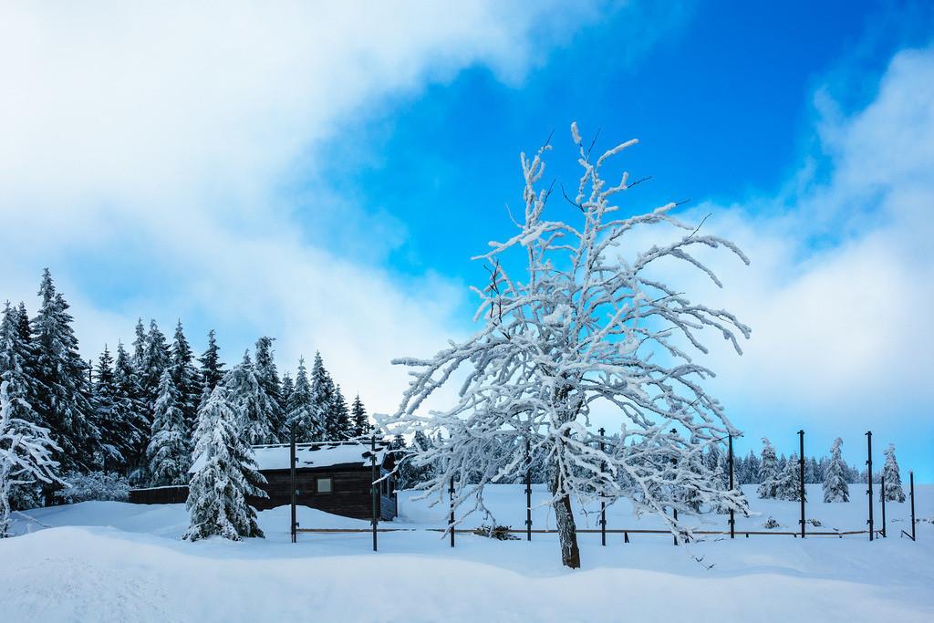 Winter im Riesengebirge bei Spindlermühle, Tschechien   Winter im Riesengebirge bei Spindlermühle, Tschechien.