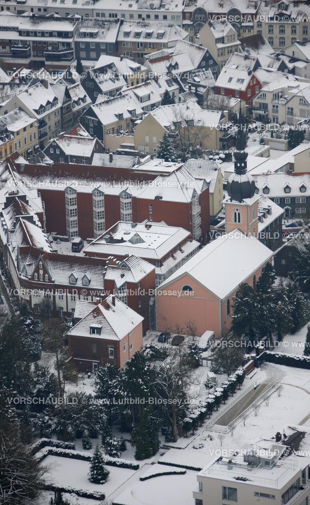KT10011152 | Schnee,  Kettwig, Essen, Ruhrgebiet, Nordrhein-Westfalen, Deutschland, Europa, Foto: Luftbild Hans Blossey, Copyright: hans@blossey.eu, 06.01.2010, E 006° 56' 30.53